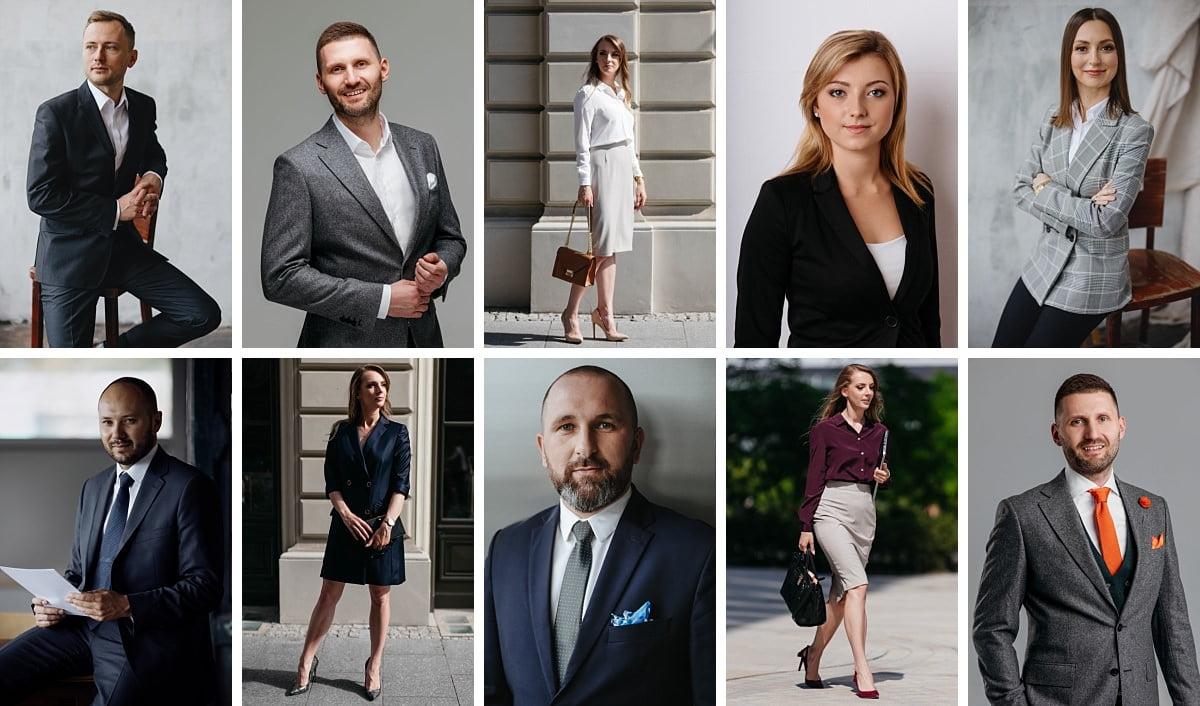 Jak ubrać się do sesji biznesowej, propozycje zestawów ubrań na sesję biznesową dla kobiet i mężczyzn