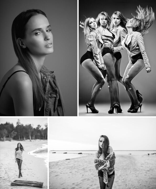 pomysły na zdjęcia dziewczyn - czarno-biala fotografia modowa pełna inspiracji